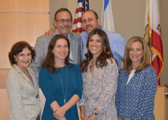 Top row: Dr. Alan M. Spiwak-President, Dr. Bruce Ellman - Chair Board Member Education and Engagement, Bottom row: Sheilah Miller, Ilana Goldschein, Dr. Simona Heumann and Amy Leibowitz - newly installed directors of the BJE board.