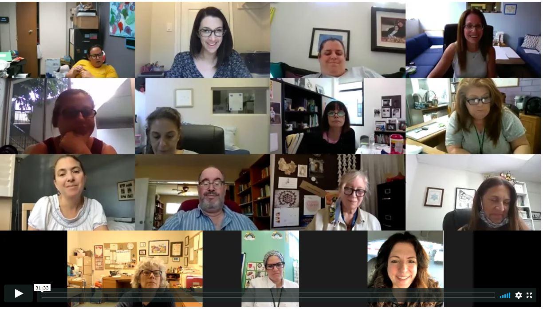 Zoom image of ECE educators talking online about preparing for school openings