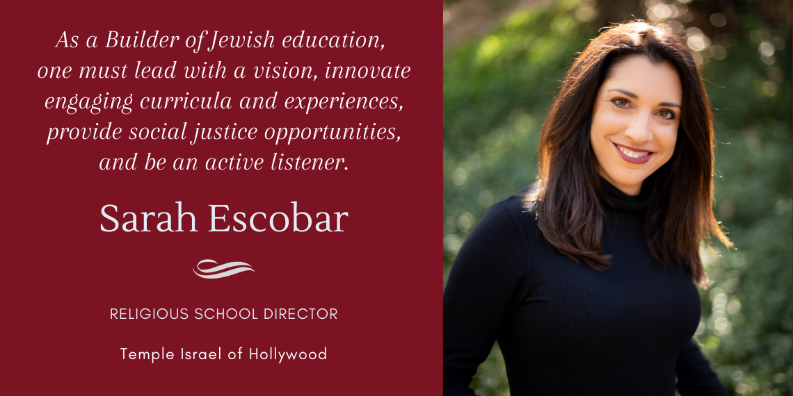 Sarah Escobar - BJE Builder from Temple Israel of Hollywood