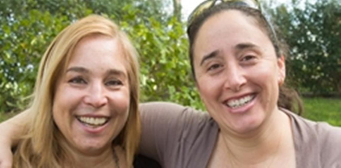 Lara Martin and Glenda Dragin at Day School Conference