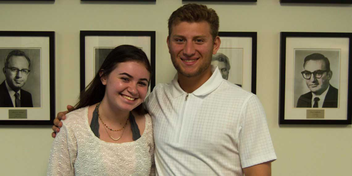 BJE High School Interns Maya Weiss and Michael Finkelstein