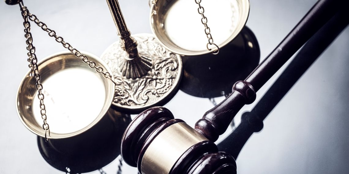 Gavel and scales of justice