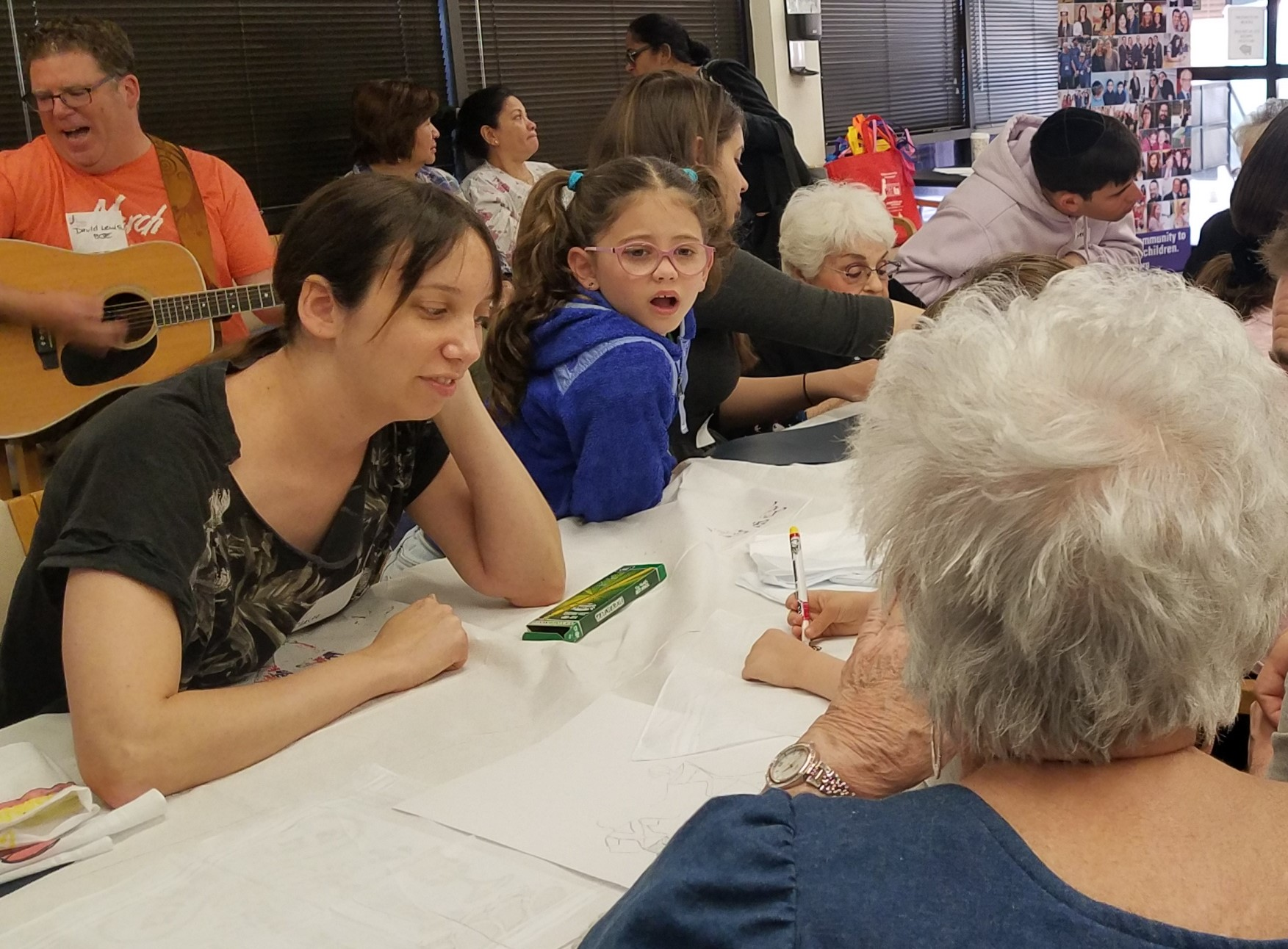 Volunteers and LA Jewish Home residents