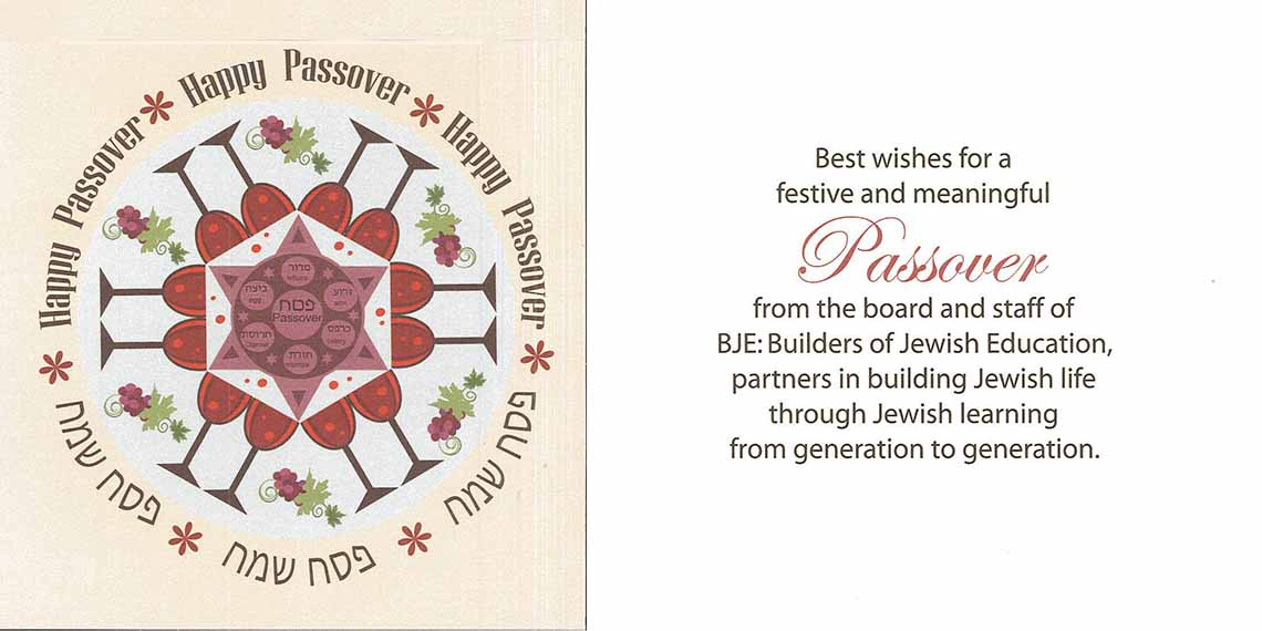 Passover wishes from BJE!