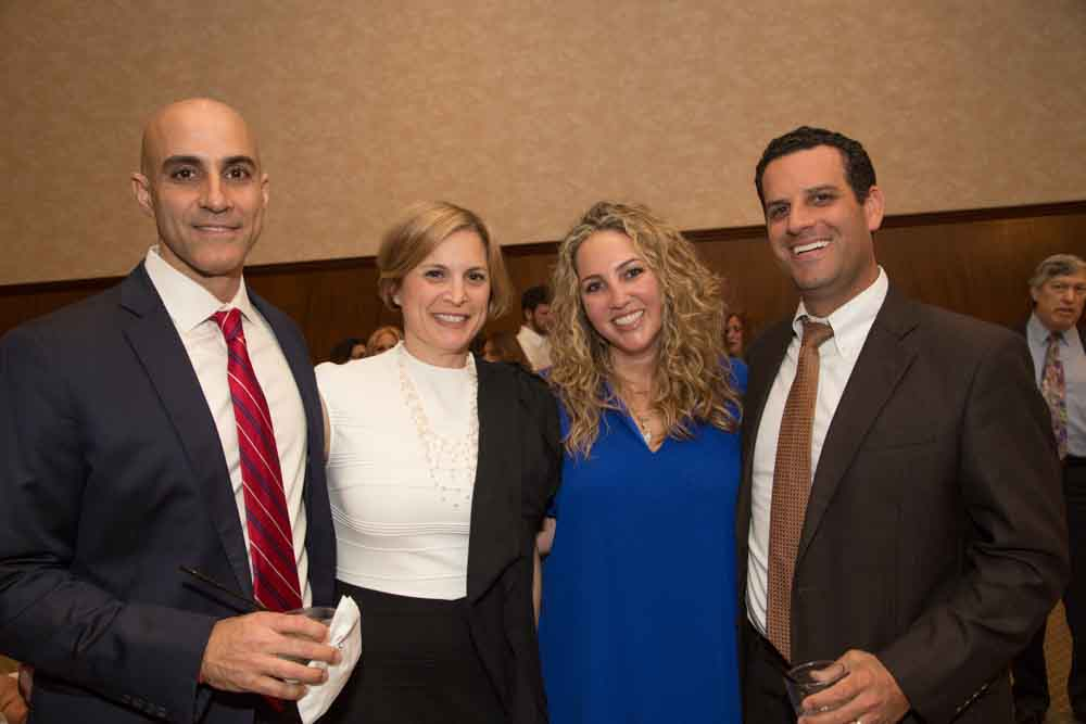 Oren and Melissa Hirsch, Jennifer and Aaron Aftergood