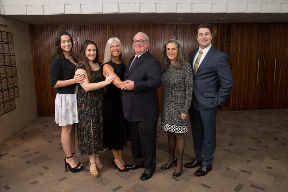 Honoree Bennett Spiegel with his family and co-chair Jill Lasker