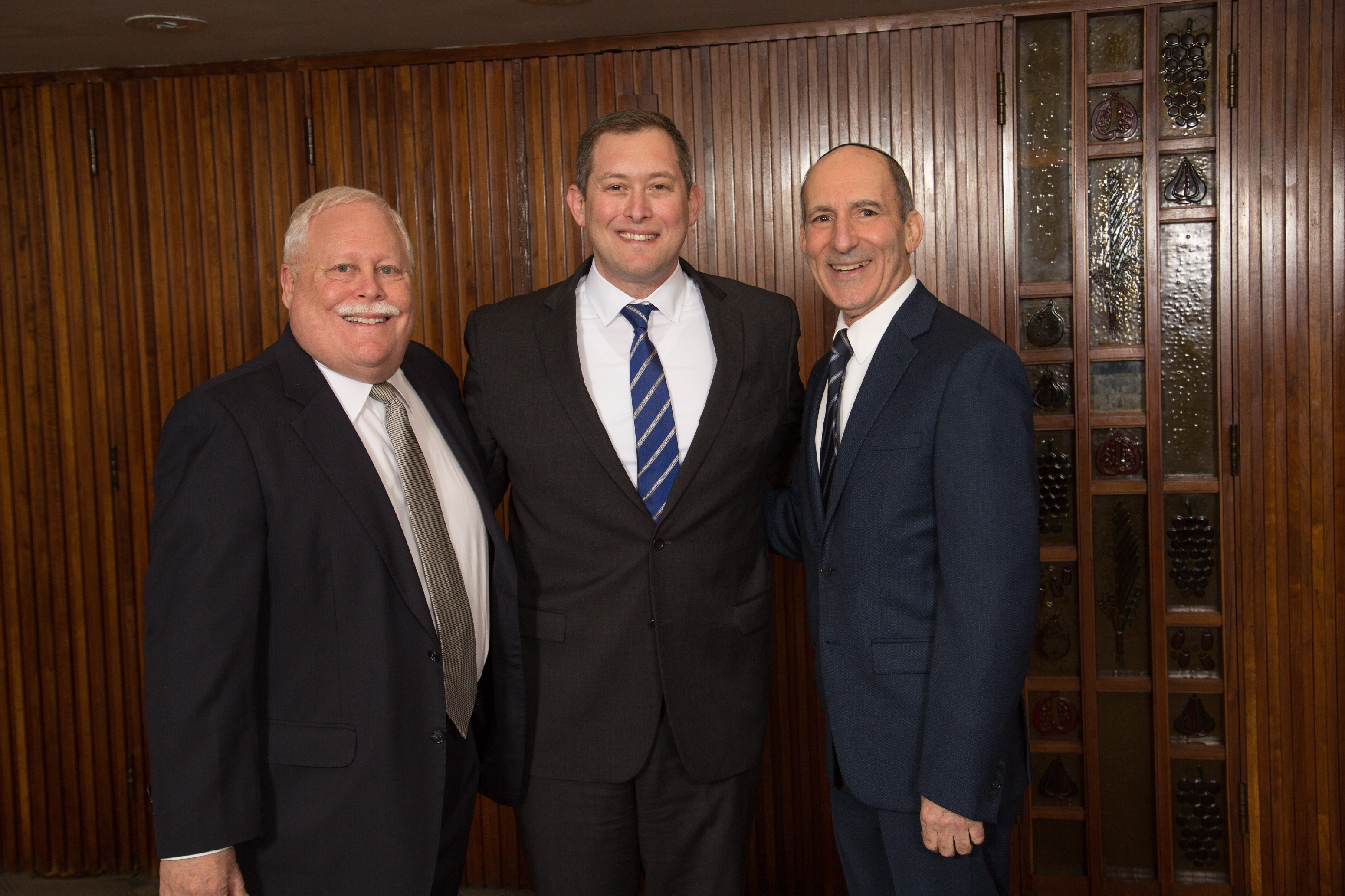 BJE Board President Mark Berns, Honoree Craig Rutenberg and BJE Executive Director Dr. Gil Graff