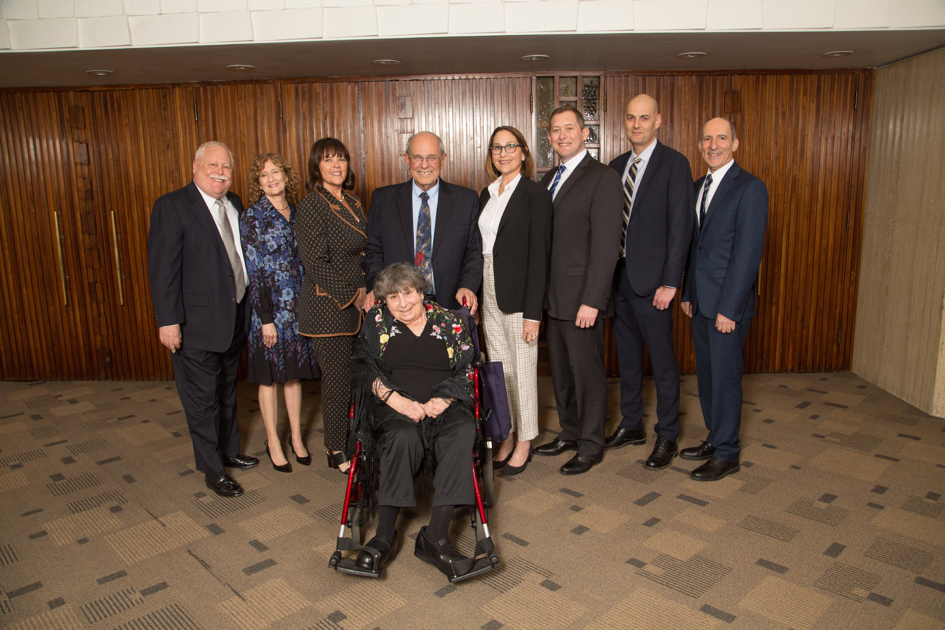 BJE Gala Honorees with Gala Co-Chairs Susan Jacoby Stern, Maggie Howard and Brian Kaplan with BJE Executive Director Dr. Gil Graff and BJE Board President Mark Berns