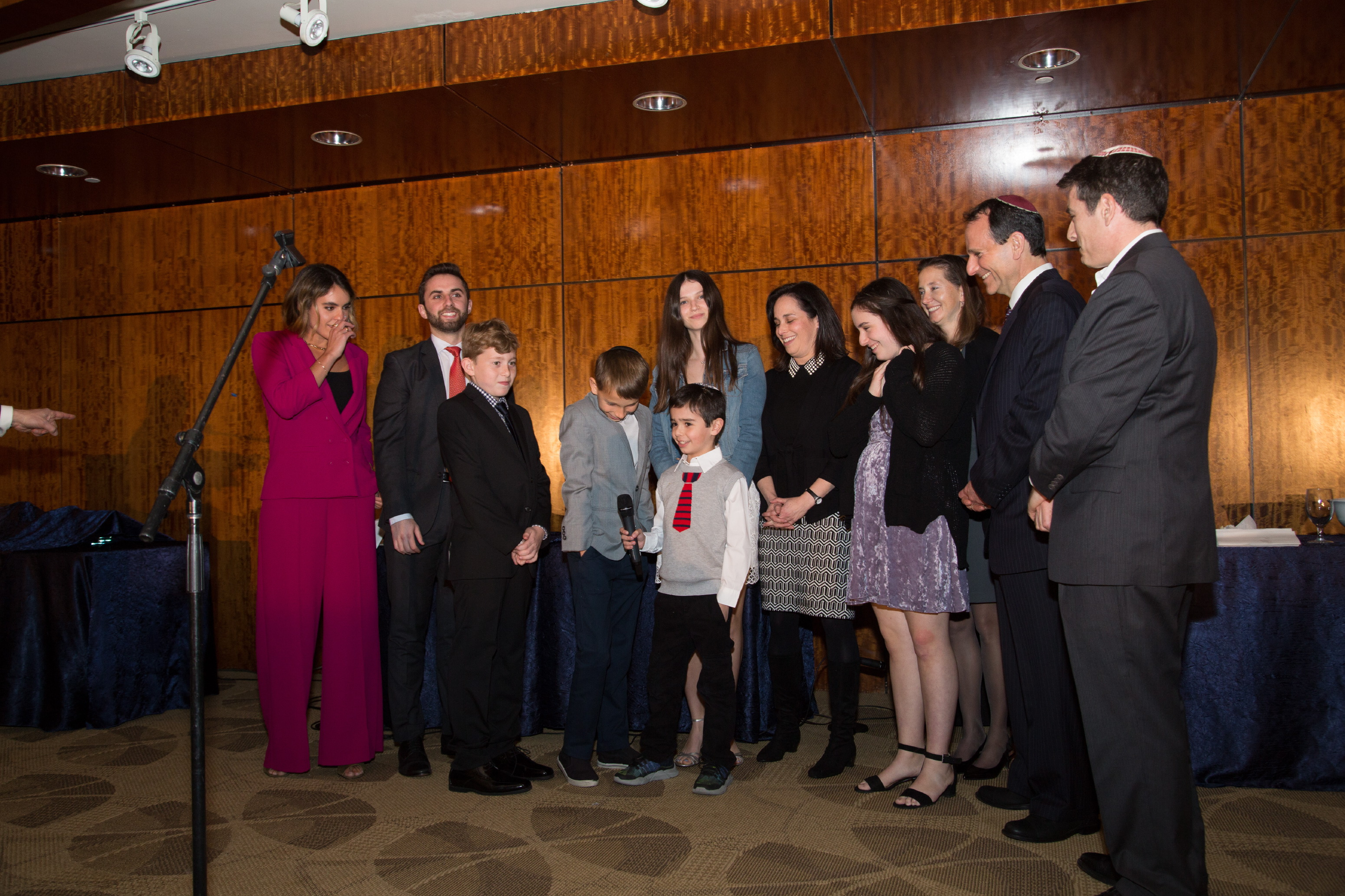 Children and Grandchildren of Honorees doing Motzi