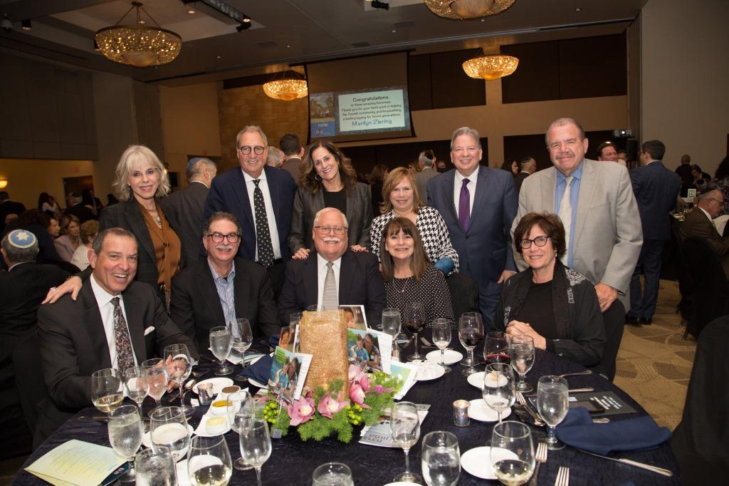 Penny & BJE Board President Mark Berns, Susan & Jaime Gesundheit, Marcie and StuartLipsett, Ed Nahmias, Felice & Doug Williams, Beverly & DavidWoznica