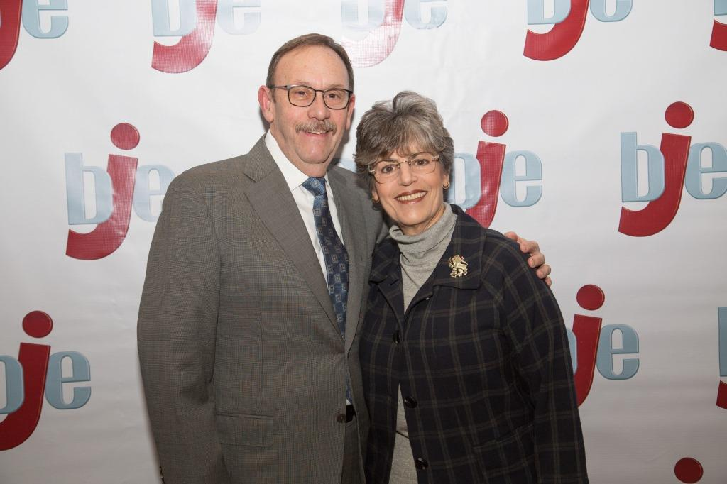 BJE Past Board President Alan Spiwak with Rochelle Cohen