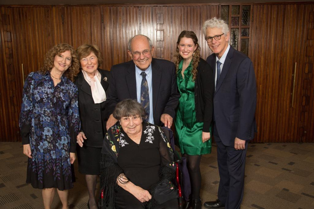 Honorees Marlynn and Rabbi Elliot Dorff with Co-chair Susan Jacoby Stern, Joel Stern and Lela and Dr. Norman Jacoby