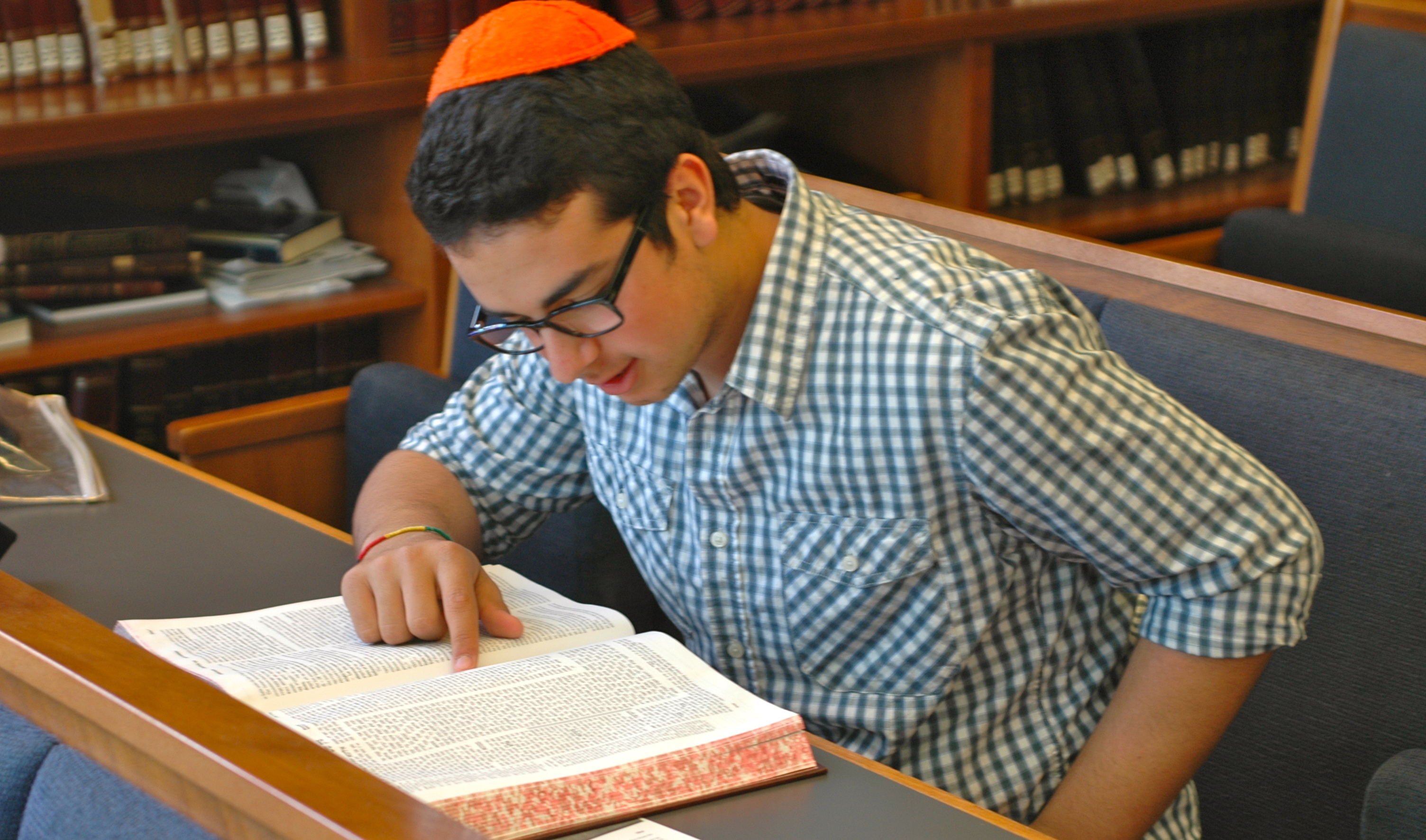 YULA Boys School studying Talmud