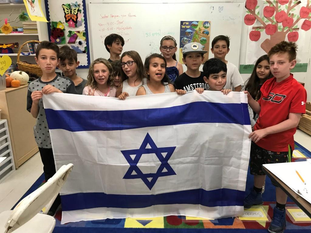 Temple Aliyah Religious school learning about Israel